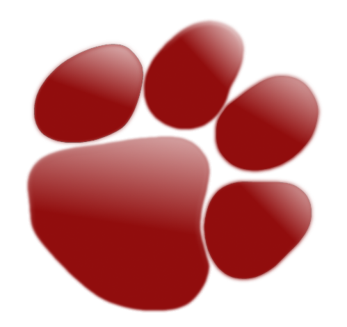 pawprint red